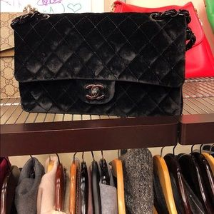 Chanel Black Velvet Bag,Classic